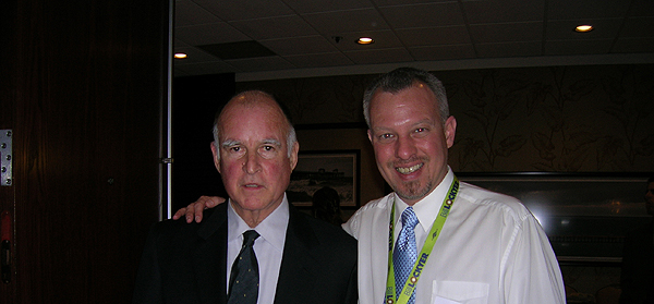 Kevin Carr Stanton with Governor Brown