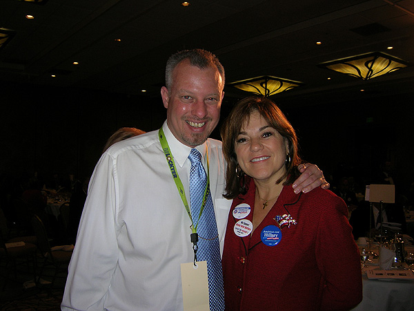 Kevin Carr with Congresswoman Loretta Sanchez